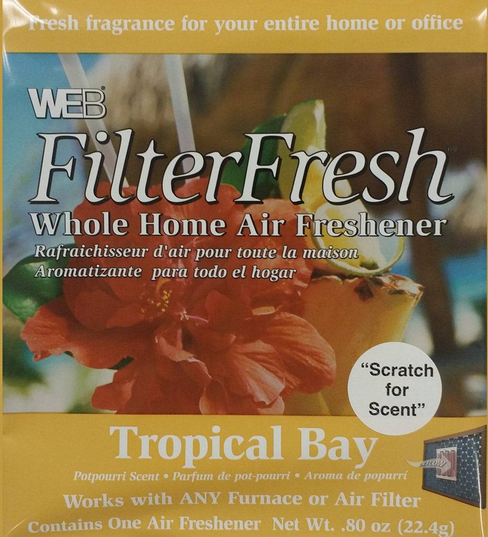 Filter Fresh Home Air Freshener Pads Tropical Bay 1 Pack of 18