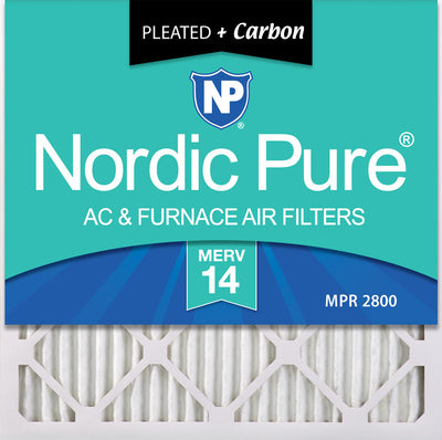 23&nbsp1/2x23&nbsp1/2x1 MERV 14 Plus Carbon AC Furnace Filters 6 Pack
