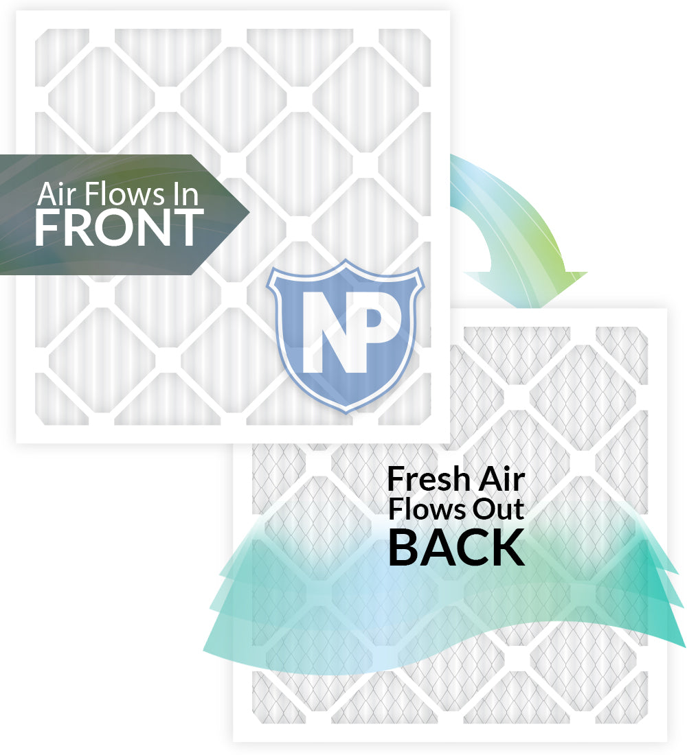 Nordic Pure 20x21/_1//2x1 Exact MERV 8 Pleated AC Furnace Air Filters 2 Pack,
