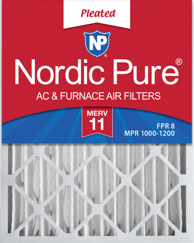 24x28x4 MERV 11 Pleated AC Furnace Air Filters 2 Pack