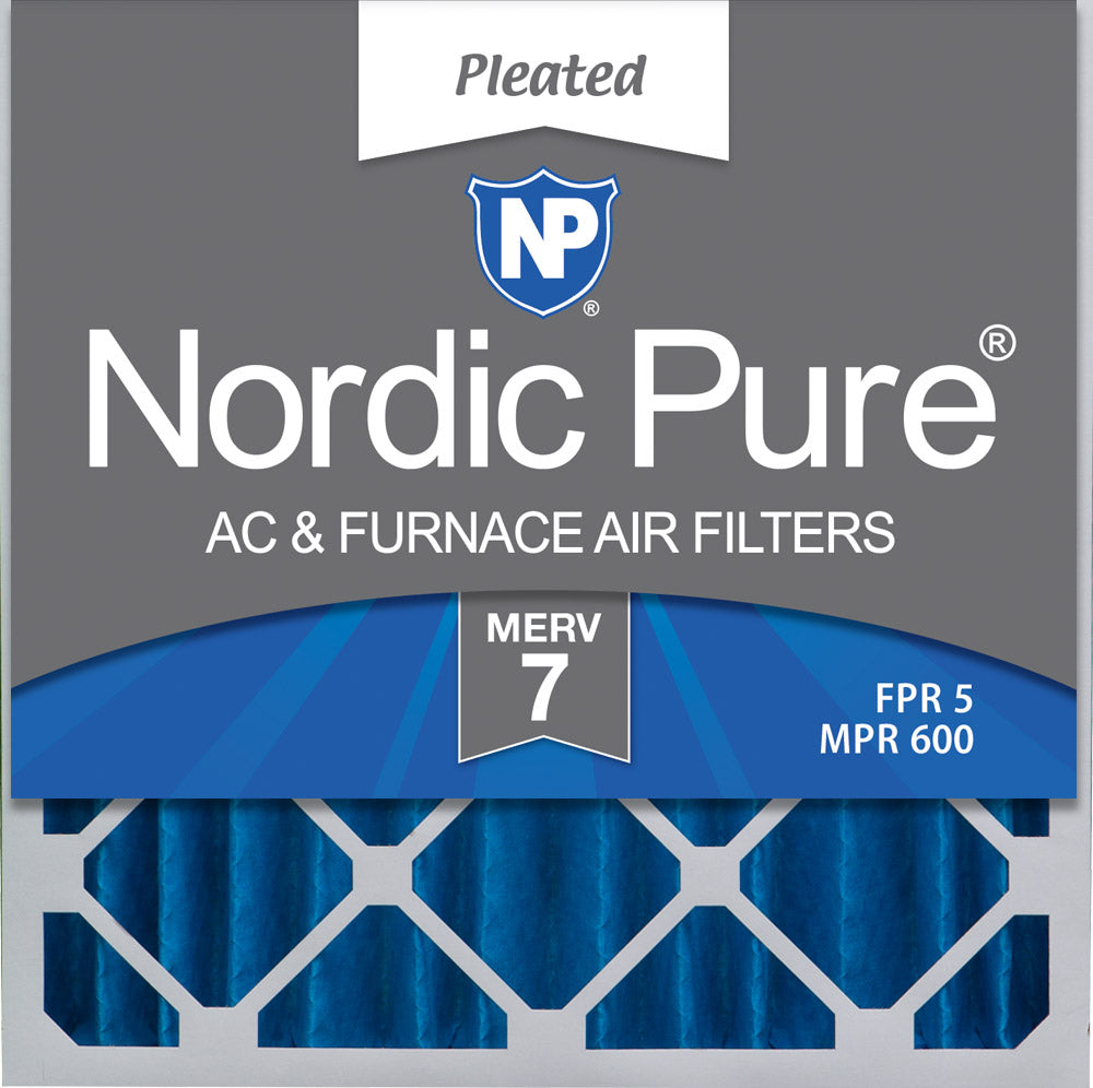 20x20x4 (3 5/8) Pleated MERV 7 Air Filters 1 Pack
