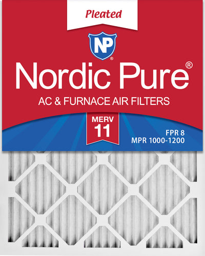 16x25x1 MPR 1085 Pleated Micro Allergen Extra Reduction Replacement Air Filters 12 Pack