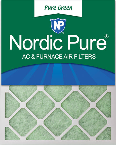 16x25x1 Pure Green Eco-Friendly AC Furnace Air Filters 3 Pack