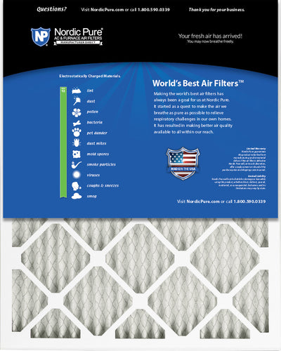 16x25x1 Pleated MERV 13 Air Filters 6 Pack