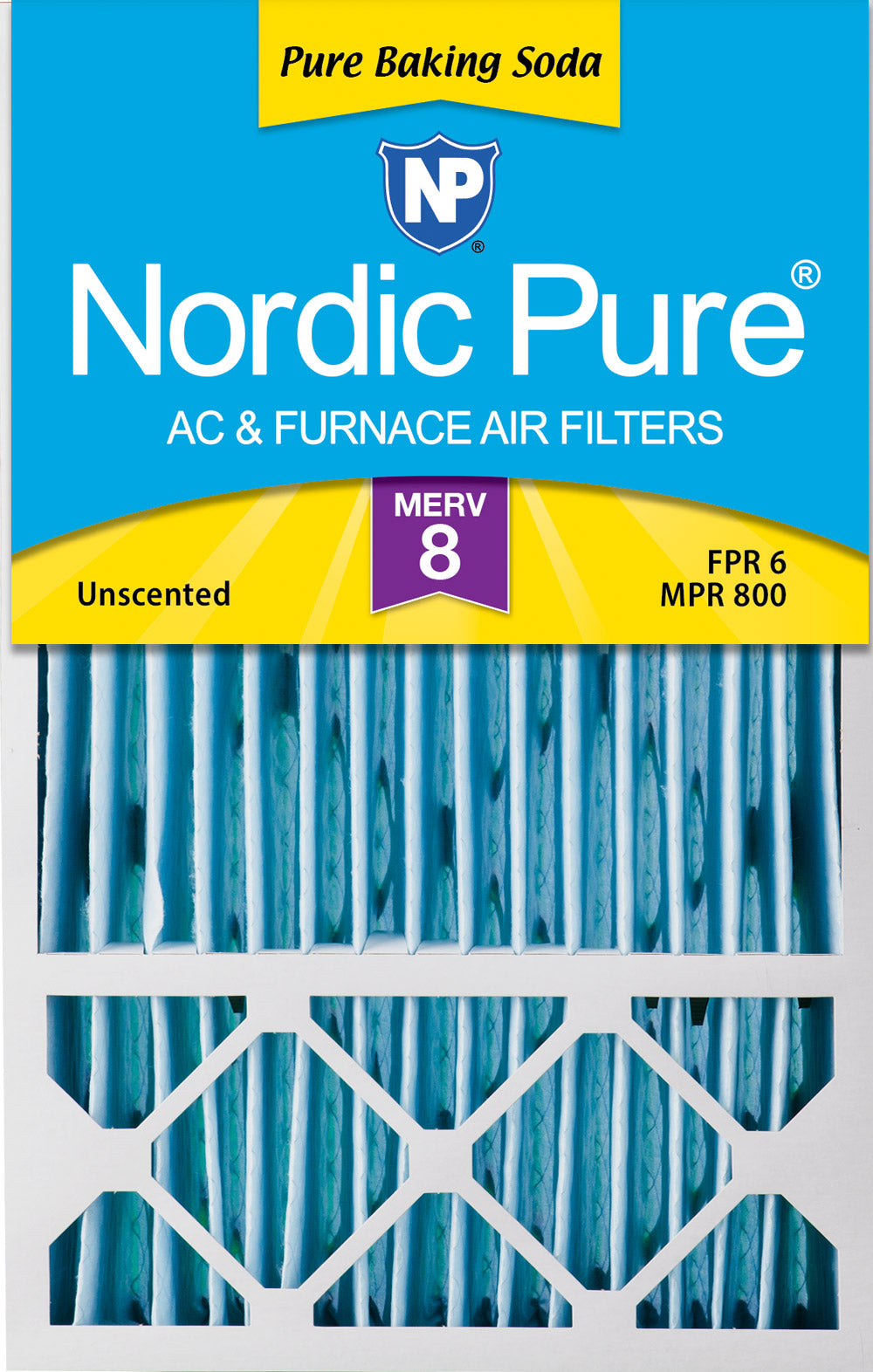 16x25x5 (4 3/8) Pure Baking Soda Odor Deodorizing Honeywell/Lennox Rep Air Filters 1 Pack