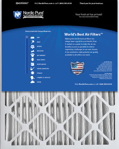 20x25x5 (4 3/8) Honeywell/Lennox Replacement MERV 12 Air Filters 2 Pack