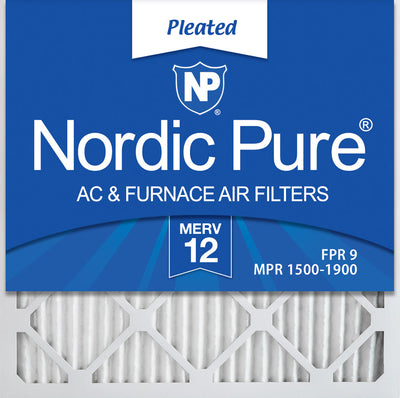 24x24x1 MERV 12 Pleated AC Furnace Air Filters 12 Pack