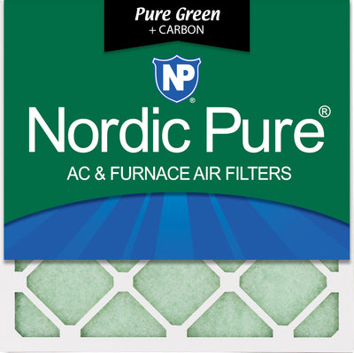 10x10x1 Pure Green Plus Carbon Eco-Friendly AC Furnace Air Filters 6 Pack