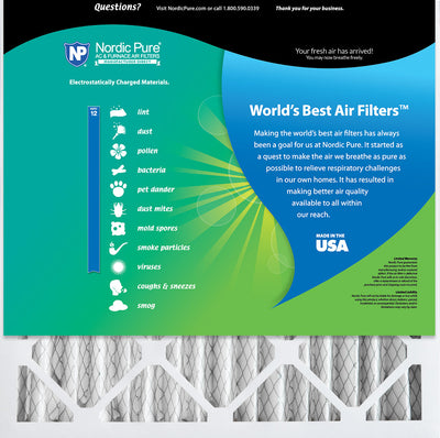 14x14x4 MERV 12 Pleated AC Furnace Air Filters 2 Pack