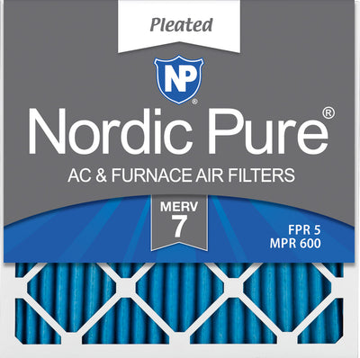 20x20x1 Pleated MERV 7 Air Filters 12 Pack