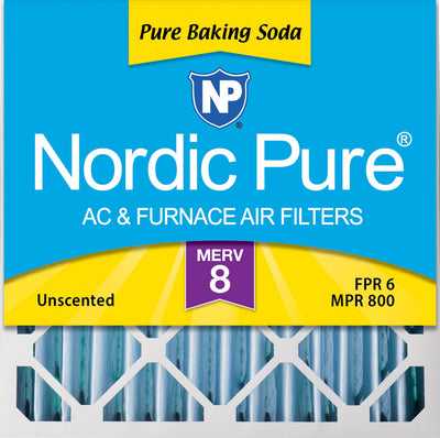 20x20x4 (3 5/8) Pure Baking Soda Odor Deodorizing AC Air Filters 1 Pack