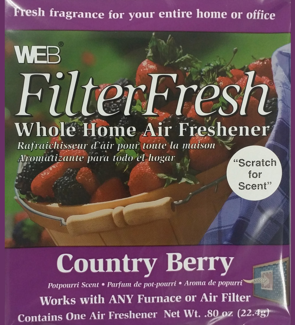 Filter Fresh Home Air Freshener Pads Country Berry 1 Pack of 18