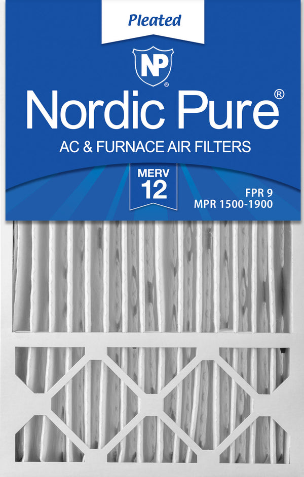 Nordic Pure 24x36x2 MERV 10 Pleated AC Furnace Air Filters 4 Pack