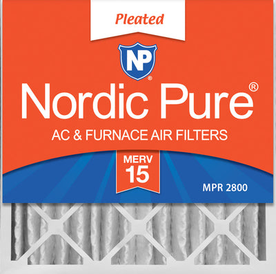 20x20x4 (3 5/8) Pleated MERV 15 Air Filters 1 Pack