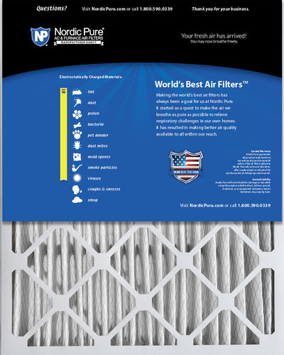 20x25x5 (4 3/8) Lennox X6673&nbspX6675 Replacement MERV 10 Air Filters 4 Pack