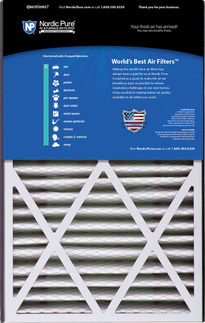 Air Bear Cub 16x25x3 Replacement 266649-101 MERV 14 Air Filters 7 Pack