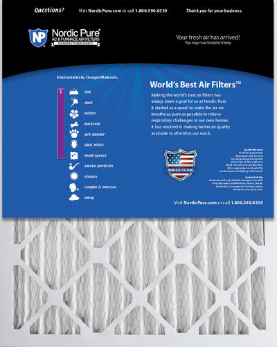 18x25x2 Pleated MERV 8 Air Filters 12 Pack