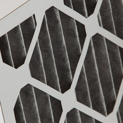 14x25x2 Furnace Air Filters MERV 12 Pleated Plus Carbon 12 Pack