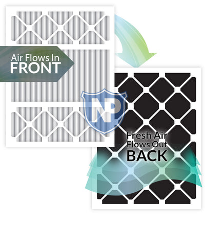 20x25x5 (4 3/8) Lennox X6673&nbspX6675 Replacement Air Filters MERV 13 Plus Carbon 2 Pack