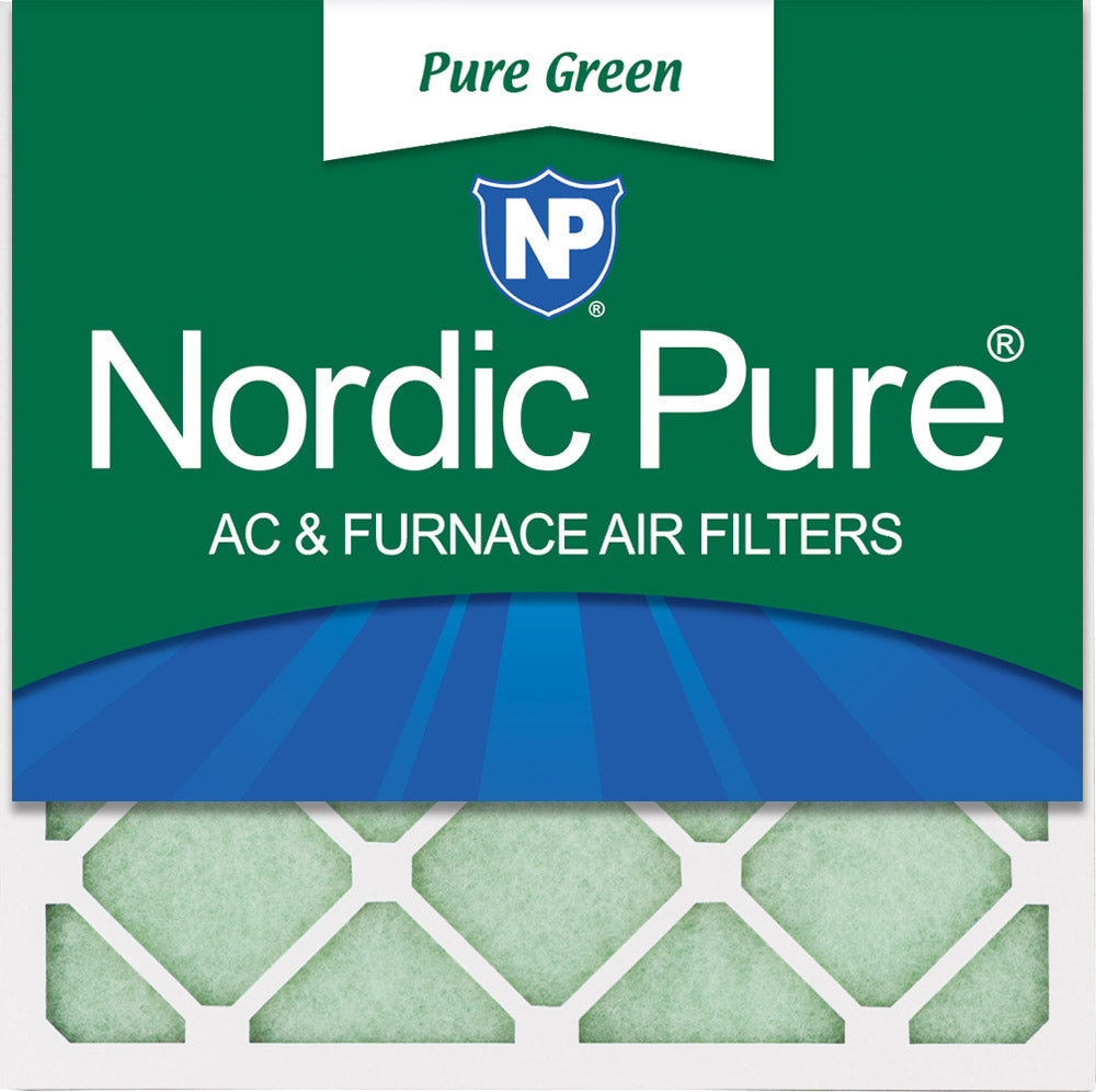 14x14x1 Pure Green Eco-Friendly AC Furnace Air Filters 3 Pack