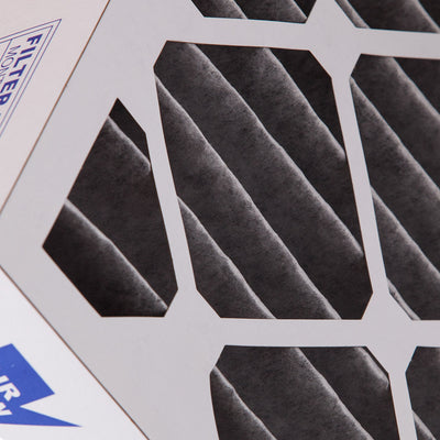 16x25x4 (3 5/8) Furnace Air Filters MERV 12 Pleated Plus Carbon 6 Pack