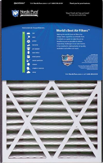 Air Bear Cub 16x25x3 Replacement 266649-101 MERV 13 Air Filters 7 Pack
