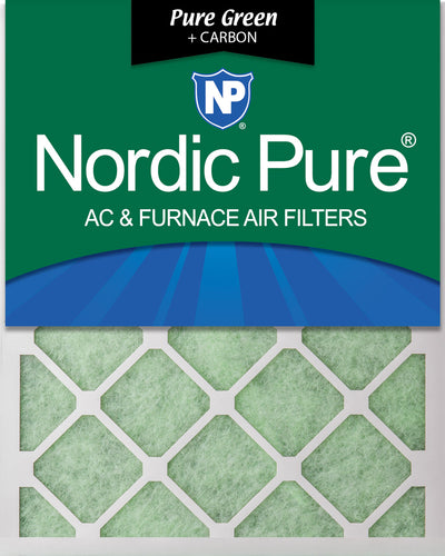 15x20x1 Pure Green Plus Carbon Eco-Friendly AC Furnace Air Filters 12 Pack