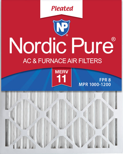 16x27x2 MERV 11 Pleated AC Furnace Air Filters 4 Pack