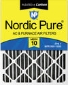 11 1/4x23 1/4x1 Exact MERV 10 Plus Carbon AC Furnace Filters 12 Pack