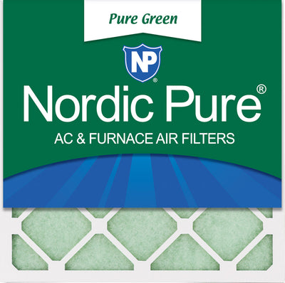 18x18x1 Pure Green Eco-Friendly AC Furnace Air Filters 12 Pack