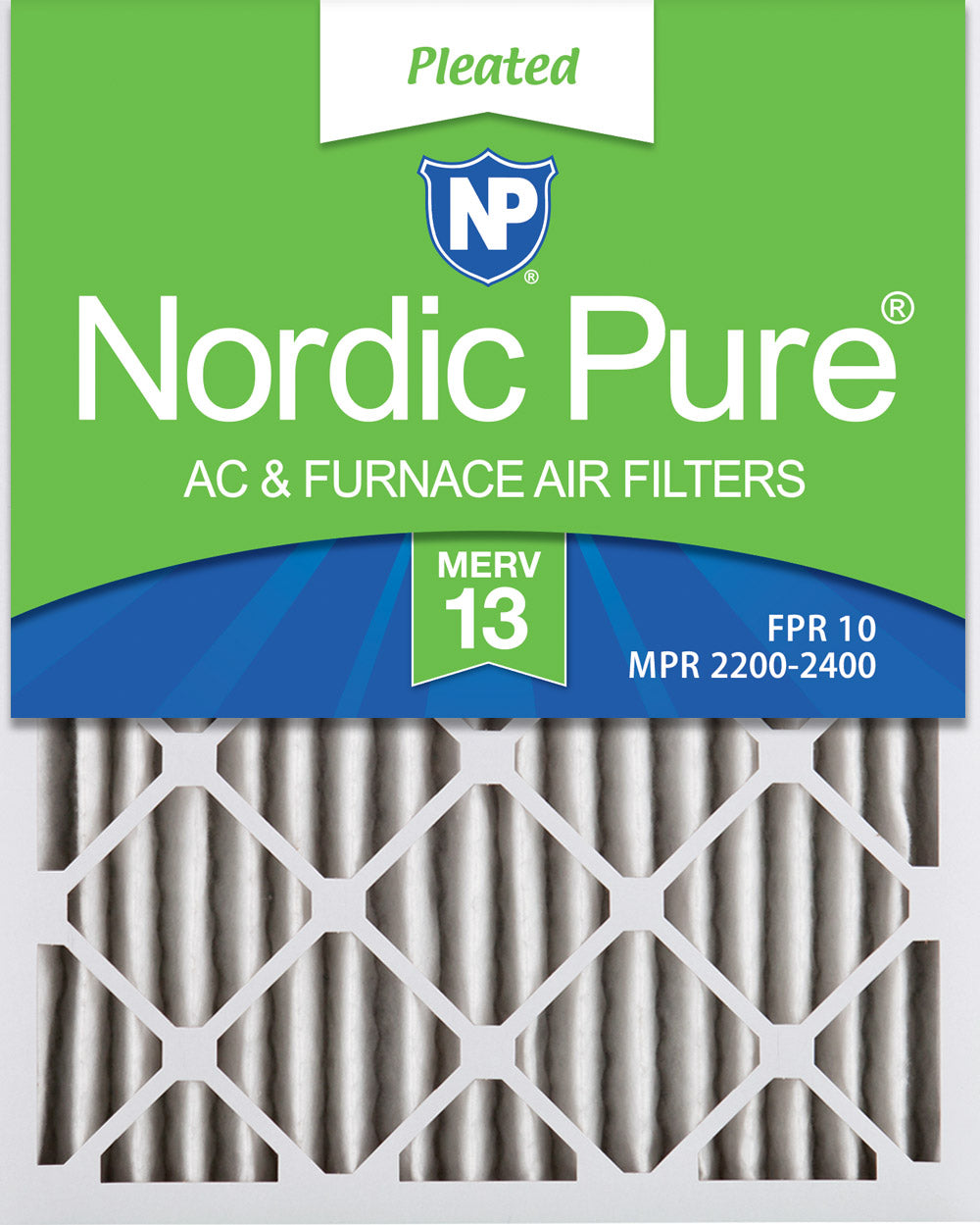 16x20x2 Pleated MERV 13 Air Filters 3 Pack