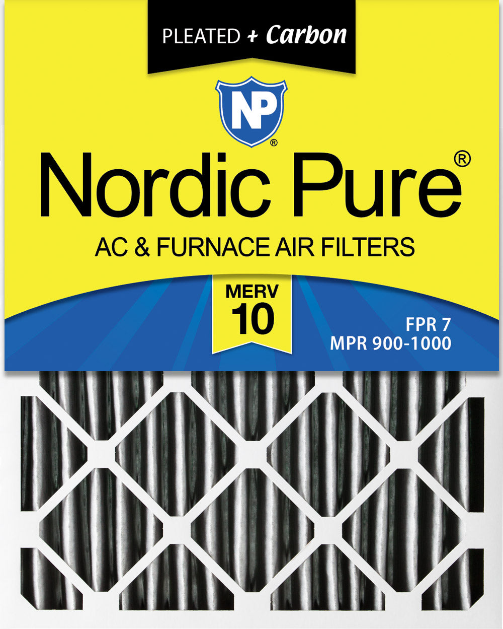 18x18x1 Activated Carbon Particles A//C Furnace Air Filters Steel Frame