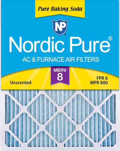 10x20x1 Pure Baking Soda Odor Deodorizing AC Air Filters 3 Pack