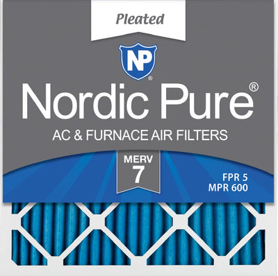 10x10x1 Pleated MERV 7 Air Filters 6 Pack