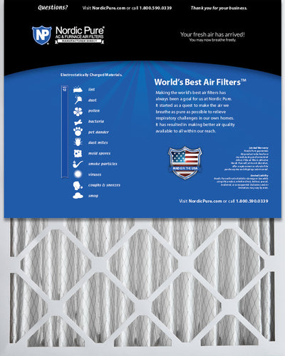 18x24x4 (3 5/8) Pleated MERV 12 Air Filters 6 Pack