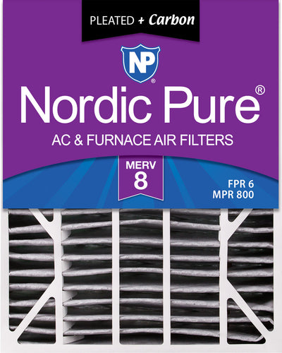 20x25x6 Aprilaire Space-Gard 2200 Replacement Air Filter Part 201 MERV 8 Plus Carbon 1 Pack