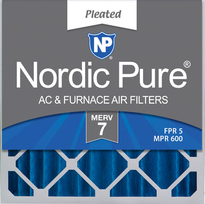20x20x4 (3 5/8) Pleated MERV 7 Air Filters 2 Pack