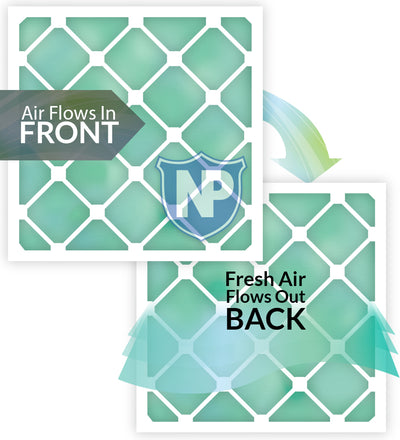 16x24x1 Pure Green Eco-Friendly AC Furnace Air Filters 3 Pack