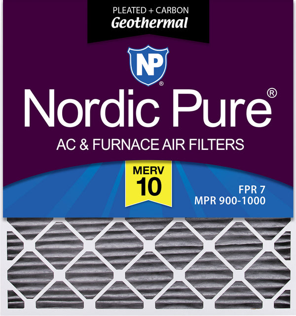 6 Pack 6 Piece Nordic Pure 12x18x1 MERV 8 Pleated Plus Carbon AC Furnace Air Filters