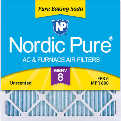 20x20x1 Pure Baking Soda Odor Deodorizing AC Air Filters 3 Pack