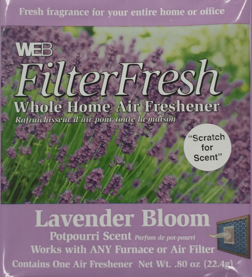 Filter Fresh Home Air Freshener Pads Lavender Bloom 1 Pack of 18