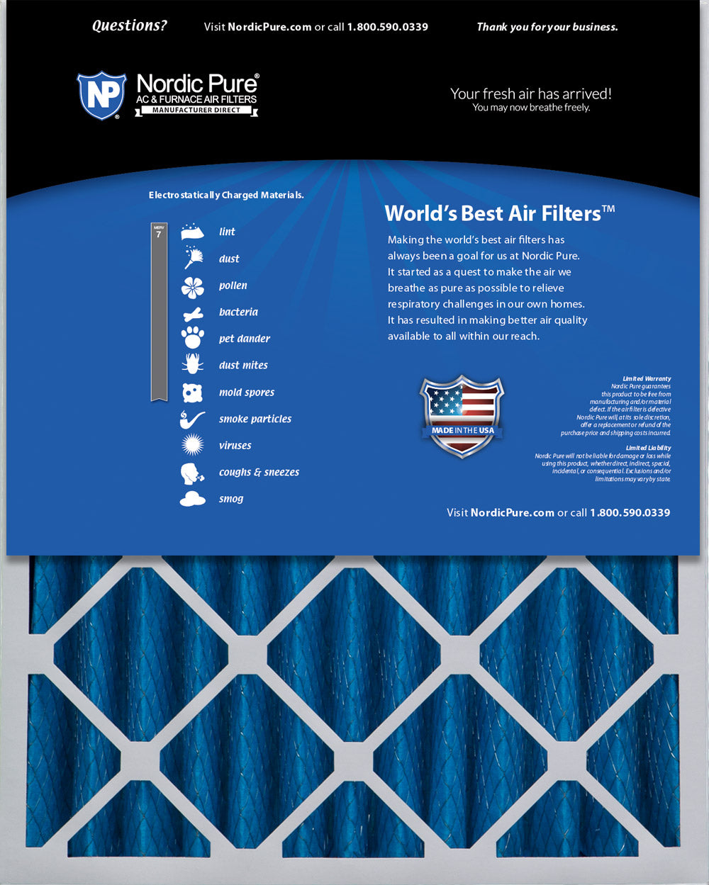 3-5//8 Actual Depth Nordic Pure 20x24x4 MERV 10 Pleated Plus Carbon AC Furnace Air Filters 1 Pack 20 x 24 x 4 1 Pack 20 x 24 x 4