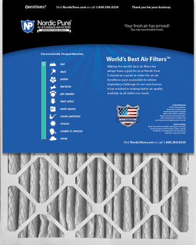 20x25x5 (4 3/8) Lennox X6673&nbspX6675 Replacement MERV 14 Air Filters 2 Pack