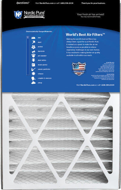 Air Bear 16x25x5 (4 7/8) Replacement 259112-105 MERV 12 Air Filters 2 Pack
