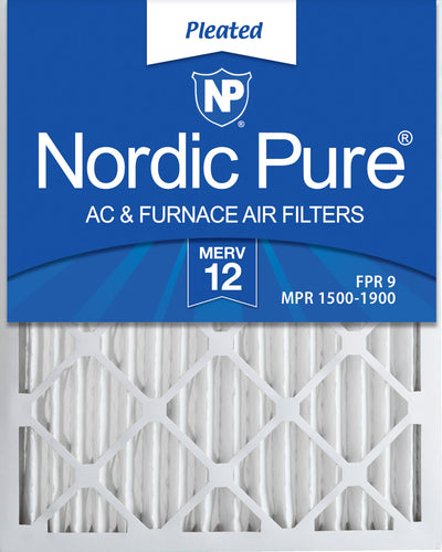 14x25x2 Pleated MERV 12 Air Filters 3 Pack