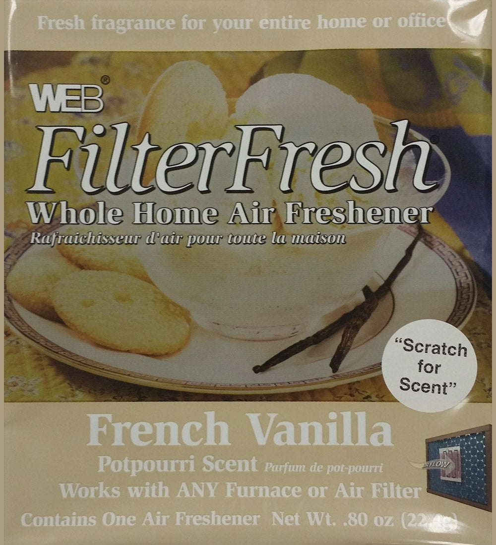 Filter Fresh Home Air Freshener Pads French Vanilla 1 Pack of 18