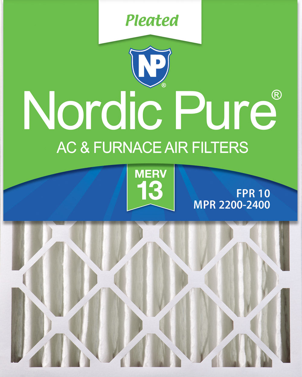 16x20x4 (3 5/8) Pleated MERV 13 Air Filters 6 Pack