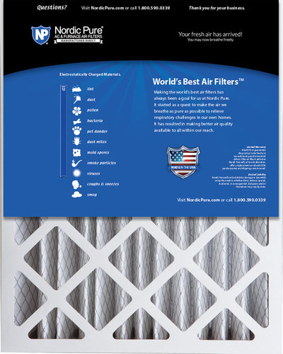 16x20x5 (4 3/8) Honeywell/Lennox Replacement MERV 12 Air Filters 2 Pack