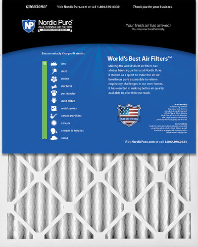 18x24x2 Pleated MERV 13 Air Filters 3 Pack