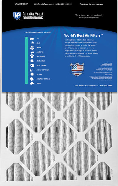 16x25x5 (4 3/8) Honeywell/Lennox Replacement MERV 14 Air Filters 1 Pack